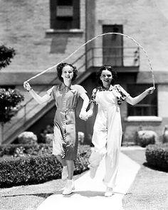 Deanna Durbin and Judy Garland   ::   ca. 1936 - Deanna Durbin and Judy Garland jumping rope. Oh, my gosh.. this is SO cute!