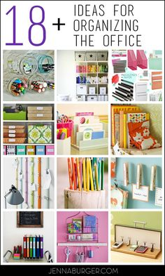Organizing ideas + tips for the HOME OFFICE!