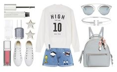"""""""#Street Style: Cool Backpack"""" by sandycyh ❤ liked on Polyvore featuring Fendi, Converse, Paul & Joe Sister, Christian Dior, Givenchy, Maybelline, Tiffany & Co., Essie, Bourjois and St. Piece"""