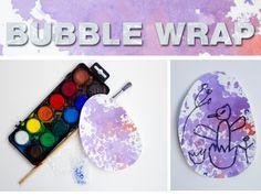 Bubble-wrap watercolor egg, Easter art project for kids (preschoolers), arTree