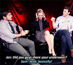 """AND THEY SHARED UNDERWEAR """"AND OTHER THINGS."""" 
