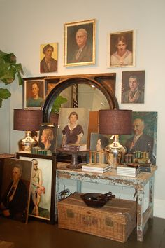 I have always wanted a collection of vintage painted portraits~