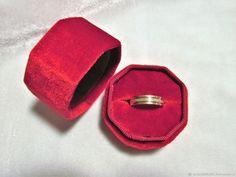 Бархатная коробочка для колец - купить или заказать в интернет-магазине на Ярмарке Мастеров | Бархатная коробочка для хранения колец ручной… Cufflinks, Boxes, Velvet, Rings, Wedding, Valentines Day Weddings, Crates, Ring, Box