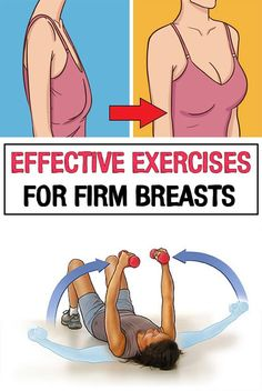 Effective Exercises for Firm Breasts /.Effective Exercises for Firm Breasts /.Effective Exercises for Firm Breasts /. Fitness Workouts, Easy Workouts, At Home Workouts, Fitness Motivation, Pilates Workout Routine, Cardio Gym, Band Workout, Chest Workouts, Health And Fitness Tips