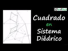 Cuadrado en Sistema Diédrico y cómo enfrentarte a un problema espacial (con vídeo) | 10endibujo