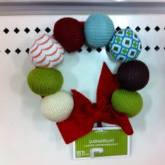 Knitted wreath...use recycled sweaters!