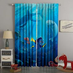 3d Curtains, Custom Curtains, Blackout Curtains, Panel Curtains, Custom Bedding, Finding Dory, Bed Covers, Digital Prints, 3d Printing
