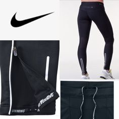 "NIKE Element Leggings•Dry-Fit Like New❣Super Strechy Fit Size L or XL perfect for the GYM/Workouts\Running! Secret pocket on back side ""glow in dark"" love these but just too big.... Nike Pants Leggings"