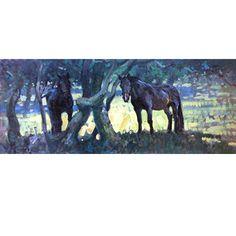 Malcom Coward Horse Prints - The Kissing Tree (Draft Horse)