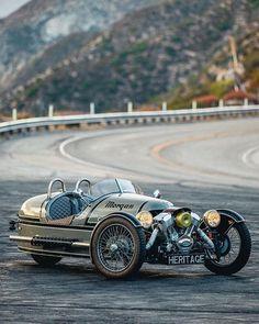 Morgan Cars, Reverse Trike, Vintage Classics, 3rd Wheel, Dieselpunk, Luxury Life, Cars And Motorcycles, Motorbikes, Race Cars