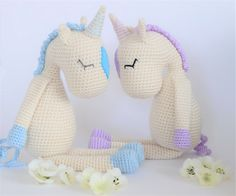 Crochet Amigurumi Flossie the Unicorn Stuffed by KornflakeStew