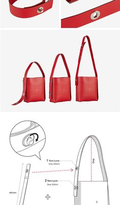 Leather Bag Design, Leather Workshop, Handbag Patterns, Red Bags, Leather Pattern, Handmade Bags, Leather Working, Small Bags, Leather Craft