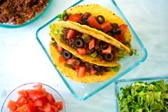 High-protein quinoa makes a great filling for tacos. It's a fun, festive, and filling meal!
