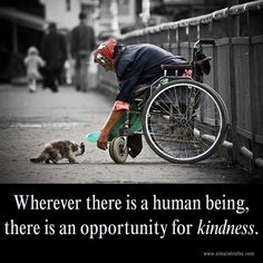 kindness begets kindness...WE CAN DO SOMETHING ABOUT ANIMAL CRUELTY...BUT IT TAKES YOU AND ME TO DO OUR PART..