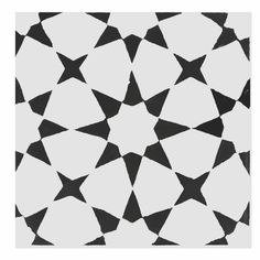 "Found it at AllModern - Medina 8"" x 8"" Cement Tile in Black and White"