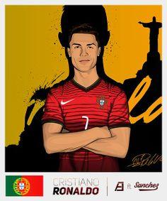 Cristiano Ronaldo #StickersProject V29 » #Football #Panini #Estampas #Soccer #Brasil2014 http://www.akyanyme.com/index.php/es/portafolio/fanart/brazil-2014/stickers-brazil-2014/297-sticker-brazil-2014-v29
