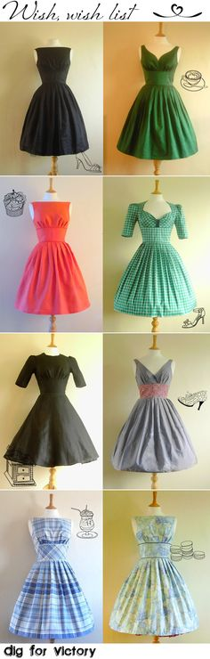 vintage dresses - yes please! :) best get sewing - hehehehe