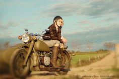 vintage biker babe