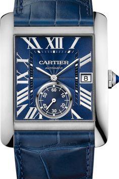 Cartier Tank MC Automatic Blue Dial Mens Watch WSTA0010 www.majordor.com .png