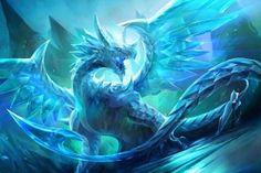 Mythical Creatures Art, Mythological Creatures, Magical Creatures, Snow Dragon, Ice Dragon, Water Dragon, Green Dragon, Dragon Manga, Artwork Fantasy