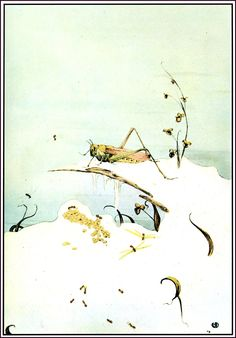 Edward J. Detmold - The Fables of Aesop - The ants and the grasshopper