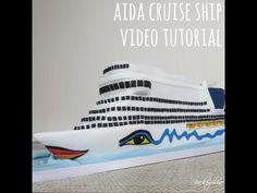 Tutorial Aida Cruise Ship Cake - YouTube
