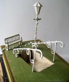 Into the unknown - Book Sculpture - Altered Book - Book Art