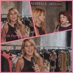 Jo Squillo con Mariella Arduini Burani..fashion show
