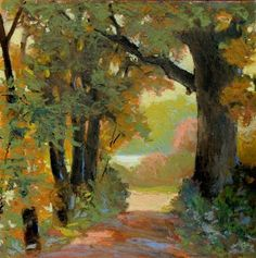 oil pastel art | Paintings – Oil wow this looks like the 2track driveway from up north!