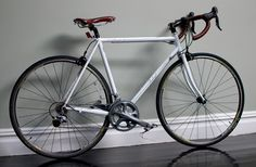 #bicycle #white #brown white and brown Raleigh steel, Record Ace