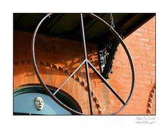 Fine Art wall print of metal hanging peace sign by picspicspics, $20.00