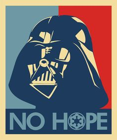 Darth Vader says No Hope, Star Wars Art, Pop Art.