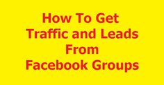 Facebook opportunity groups are a Gold Mine for driving traffic to your website, blog, or landing page. And we all know, traffic eventually becomes leads, sales, and income!