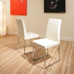 dining chair chairs set of 2 Cream/Ivory Modern Cafe B Preview