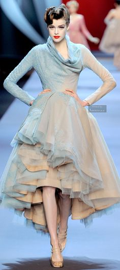 Christian Dior.SPRING  COUTURE 2011. ruffles, sheer, ombre