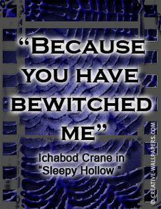 Gothic movie quote Sleepy Hollow I m very sleepy again tonight.