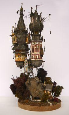 Steampunk house (sculpture)
