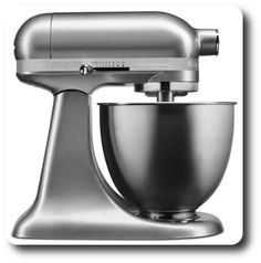 The artisan mini mixer contour silver is a sleek looking mixer that fits in a smaller space.