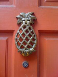 pineapple 2 Door Knobs And Knockers, Knobs And Handles, Door Handles, Porches, Pineapple Door Knocker, Door Accessories, Unique Doors, Door Furniture, Hardware