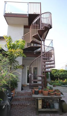 Best Spiral Staircase To Roof Deck Interior Design Guides And 400 x 300