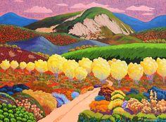 "Gene Brown ""Road to Taos Mountain"" 30X40"