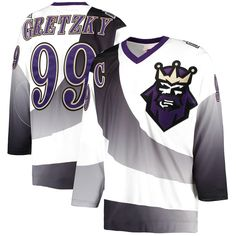 Wayne Gretzky Los Angeles Kings Mitchell & Ness 1995/96 Throwback Alternate Authentic Vintage Jersey - White - $239.99