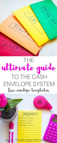 FINANCE TIPS: FREE amazing cash envelope templates! This is an awesome guide to the cash envelope system. This post answers the most important questions on the cash envelope method and gives you step by step instructions on how to create it! Budget Envelopes, Cash Envelopes, Budgeting Finances, Budgeting Tips, Ways To Save Money, Money Saving Tips, Money Tips, Money Budget, Managing Money