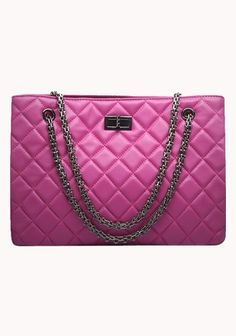 Lucia Tote Lambskin Hot Pink