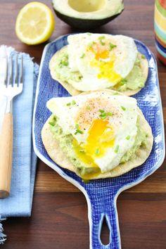 Egg and Smashed Avocado Tostadas Recipe from missinthekitchen.com