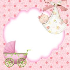 Baby Shower Labels, Baby Shower Templates, Baby Shower Invites For Girl, Invitacion Baby Shower Originales, Imprimibles Baby Shower, Baby Shower Background, Kids Background, Baby Shower Greeting Cards, Baby Girl Clipart