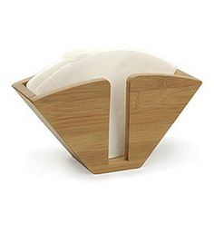 Keep all your coffee filters in one place in a stylish container with the Bamboo Coffee Filter Holder. This eco-friendly cone-shaped holder sits upright and keeps filters organized and easily accessible for coffee lovers. Looks great in your kitchen or at the office.Bamboo Coffee Filter Holder Features:Constructe