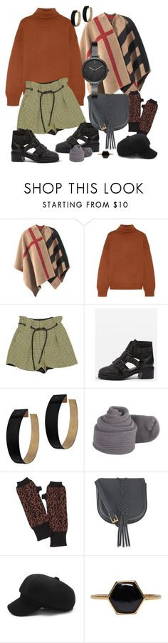 """""""BROWN SWEATER"""" by jcmp ❤ liked on Polyvore featuring Burberry, Mansur Gavriel, 3.1 Phillip Lim, Topshop, Zimmermann, NOVICA, Class Roberto Cavalli, Isabel Marant and Michael Kors"""
