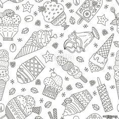 Vector: Ice Cream Pattern