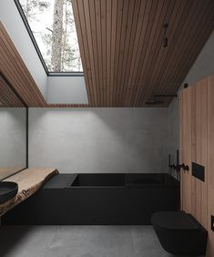 Moscow_house on Behance Modern Architecture House, Modern House Design, Interior Architecture, Home Room Design, Bathroom Interior Design, Interior Decorating, Design 3d, Dream House Interior, Luxury Home Decor